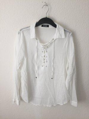 Missguided Hemd mit Schnürung Weiß