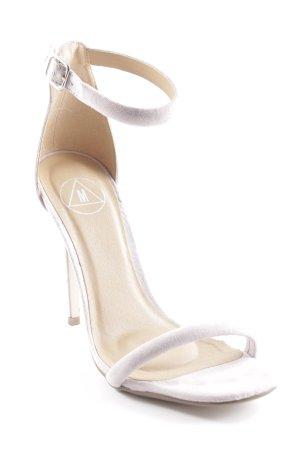 Missguided High Heel Sandaletten hellgrau Elegant