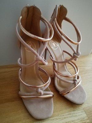 Missguided High Heels Sandalen 37 Rosegold