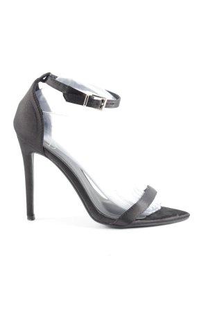 Missguided High Heels schwarz schlichter Stil