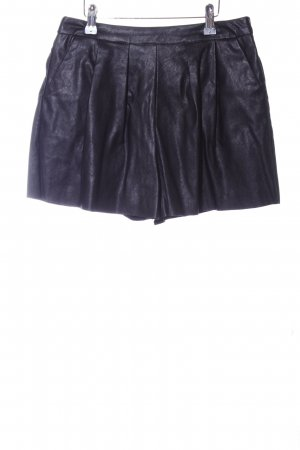 Missguided High-Waist-Shorts schwarz Biker-Look
