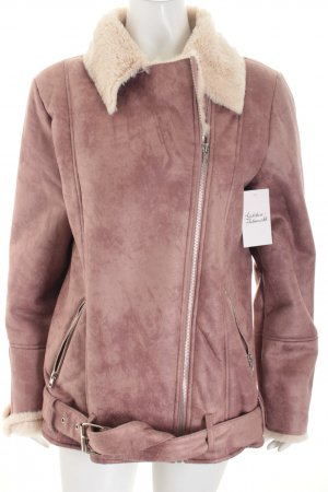 Missguided Jacke blasslila Leder-Optik