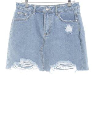 Missguided Jeansrock kornblumenblau Jeans-Optik