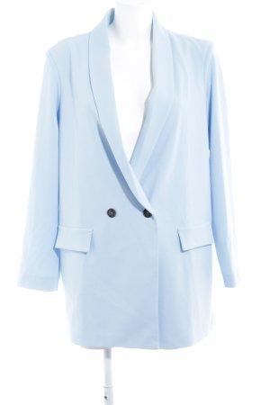 Missguided Jerseyblazer himmelblau Business-Look