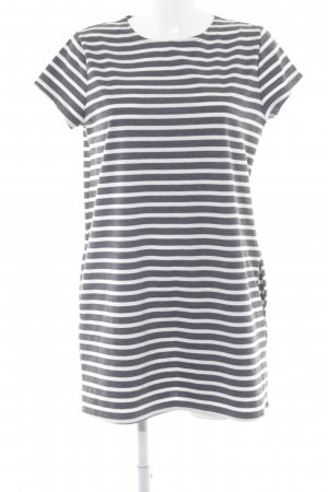 Missguided Jerseykleid grau-wollweiß Streifenmuster Casual-Look