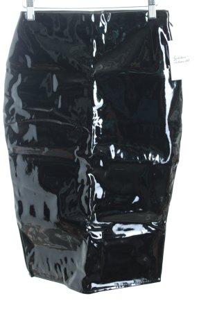 Missguided Kunstlederrock schwarz Lack-Optik