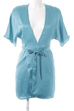 Missguided Kurzarmkleid neonblau-türkis extravaganter Stil
