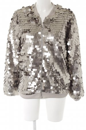 Missguided Short Jacket silver-colored extravagant style