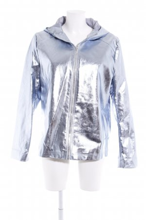 Missguided Kurzjacke silberfarben Metallic-Optik