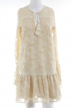 Missguided Langarmkleid creme Boho-Look