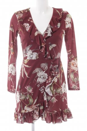 Missguided Langarmkleid florales Muster Casual-Look