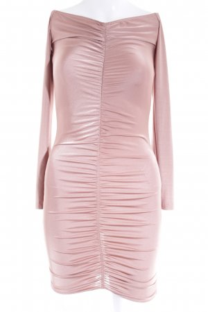 Missguided Langarmkleid roségoldfarben Schimmer-Optik