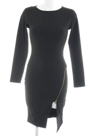 Missguided Langarmkleid schwarz schlichter Stil