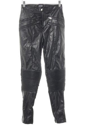 Missguided Lederhose schwarz Biker-Look