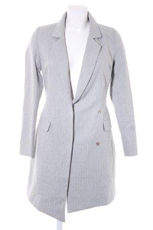 Missguided Long-Blazer grau-weiß Nadelstreifen schlichter Stil