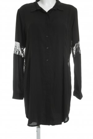 Missguided Long-Bluse schwarz Casual-Look