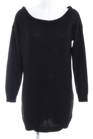 Missguided Longpullover schwarz klassischer Stil