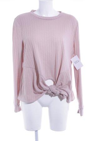 Missguided Camisa larga rosa empolvado look casual