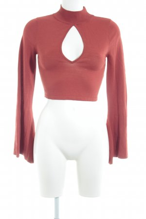 Missguided Longsleeve rostrot Street-Fashion-Look