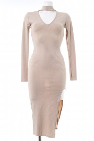 Missguided Midi Dress nude elegant