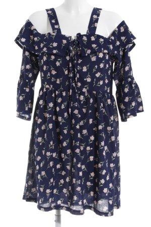 Missguided Minikleid dunkelblau-hellrosa Blumenmuster Elegant