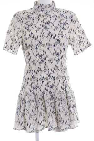 Missguided Minikleid hellgelb-dunkelblau Blumenmuster schlichter Stil