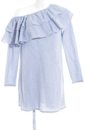 Missguided Minikleid himmelblau-weiß Streifenmuster Elegant
