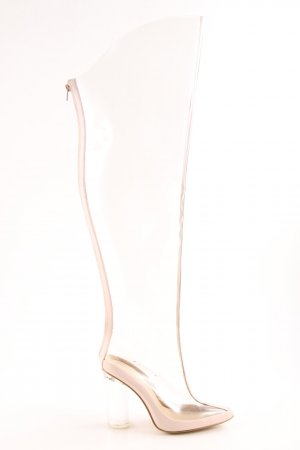 Missguided Kniehoge laarzen nude elegant