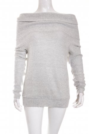 Missguided Oversized Pullover hellgrau meliert Casual-Look