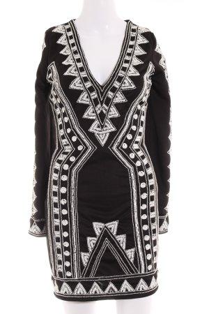 Missguided Robe à paillettes noir-blanc motif ethnique style festif