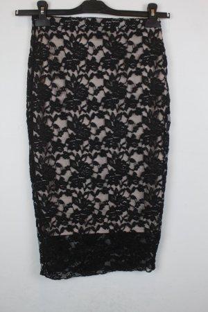 Missguided Pencil Skirt black-beige nylon