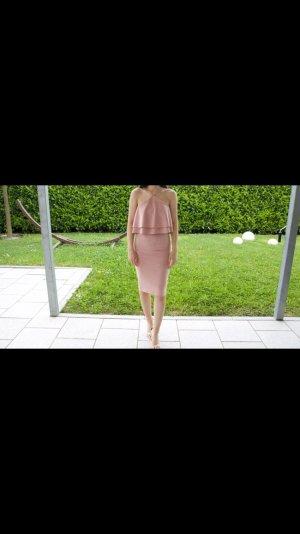 Missguided rosa Wildleder Optik Kleid