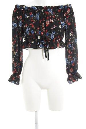 Missguided Rüschen-Bluse Blumenmuster Elegant