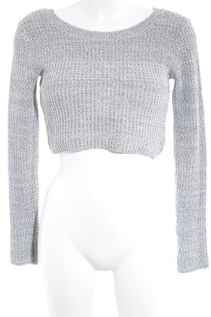 Missguided Crewneck Sweater light grey-dark grey flecked casual look