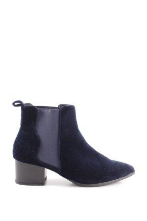 Missguided Schlüpf-Stiefeletten blau Casual-Look