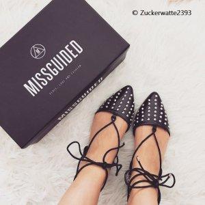 Missguided Schuhe mit Nieten schwarz Ballerina 36