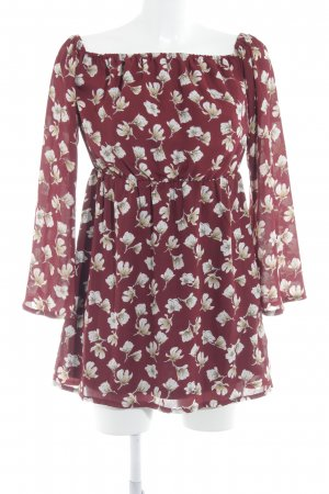 Missguided schulterfreies Kleid Blumenmuster Casual-Look