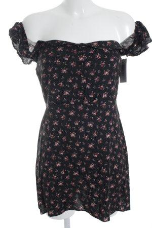 Missguided Vestido strapless estampado floral estilo romántico