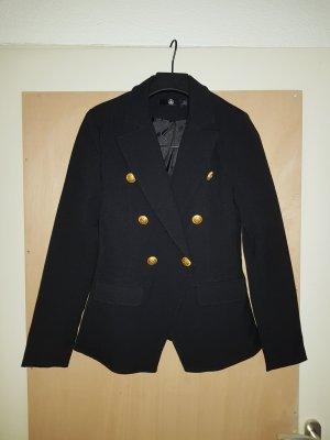 Missguided schwarzer Blazer mit goldenen Knöpfen Größe 32