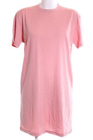 Missguided Vestido estilo camisa rosa look casual