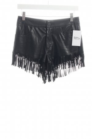 Missguided Shorts schwarz Biker-Look