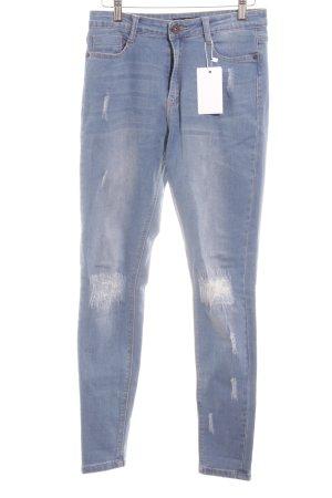 Missguided Skinny Jeans kornblumenblau Casual-Look