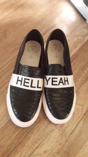 Missguided Slipon Sneaker Sneakers Slipons Reptil Hell yeah Statement 40