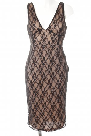 Missguided Lace Dress black-nude elegant