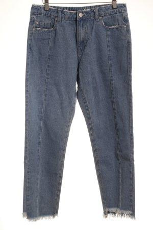 Missguided Straight-Leg Jeans kornblumenblau 90ies-Stil