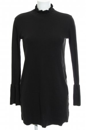 Missguided Stretchkleid schwarz Streifenmuster Casual-Look
