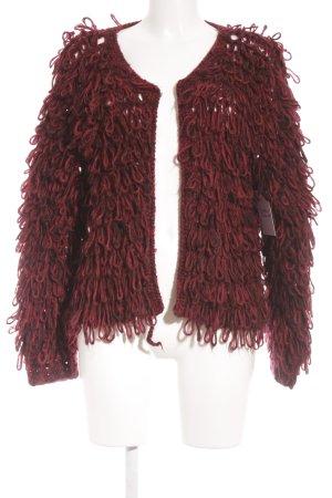 Missguided Strickjacke schwarz-rot Farbverlauf extravaganter Stil