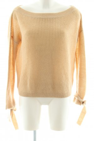 Missguided Strickpullover creme Zopfmuster Casual-Look