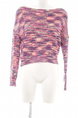Missguided Strickpullover mehrfarbig Casual-Look