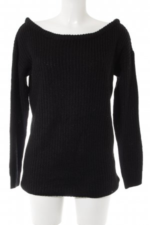 Missguided Strickpullover schwarz Casual-Look